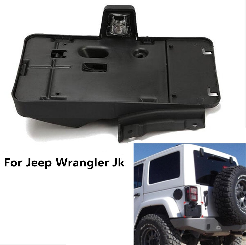 1 pc J114 America Canada Black Plastic License Plate Frames Brackets Plastic License Plate For Jeep Wrangler JK 2007 Lantsun in Car Light Assembly from Automobiles Motorcycles