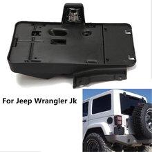 1 pc J114 Lantsun America & Canada Black Plastic License Plate Frames Brackets Plastic License Plate For Jeep Wrangler JK 2007+