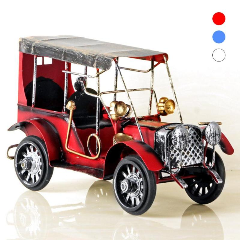 Classic Style Metal Car Decoration Home Furnishings Room Wine Cabinet Tv Cabinet Crafts Creative Classical Desktop