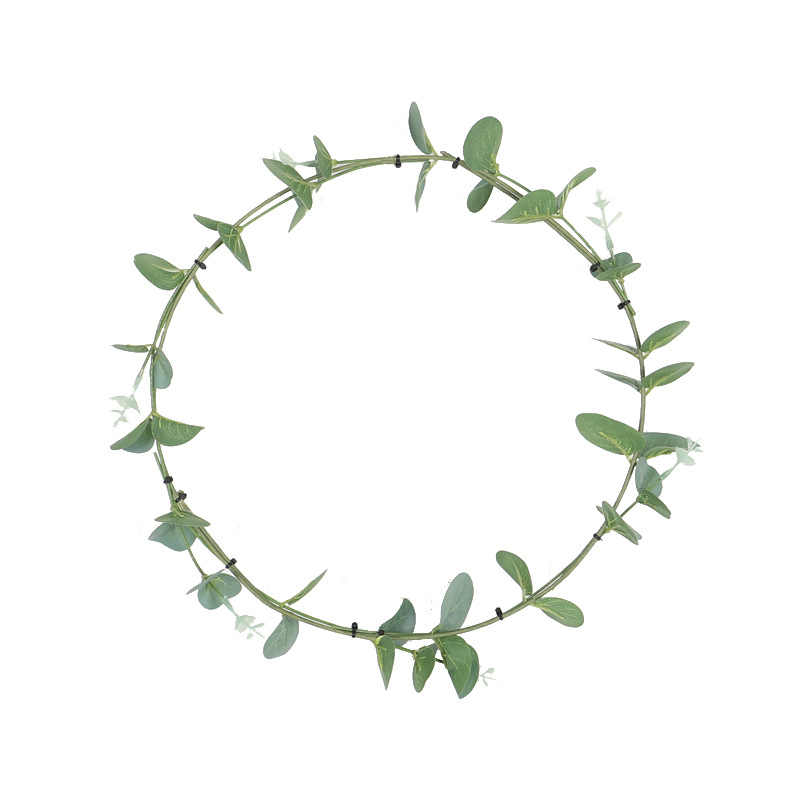 Simulation Green Vegetation Fresh Nordic Wind Wreath Eucalyptus Leaf Hoop Garland Interior Decoration Site Layout