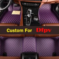 Woman Driving On Left Custom Pvc Interior Style Luxury Leather Car Floor Mats Decoration For Dfpv Ax5 Ax7 L60 Ax3 S30 H30