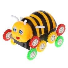 Amazing Cute Electric Cartoon 12 Wheels Bee 360 Degree Tumbling Car Toy Best