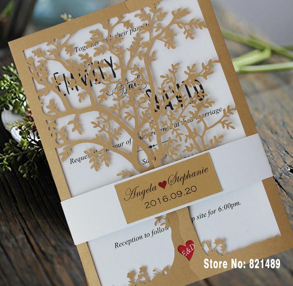 Aliexpress Com Buy Party Birthday Invitation Cards Royal Tree