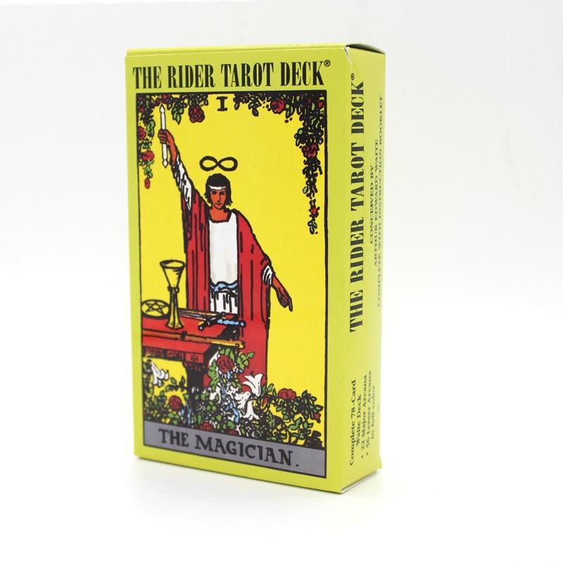 Inglés completo El Juego de Mesa 78 Unids/set En Caja Naipe Baraja de Tarot Rider Waite Tarot Tarot rider-waite Bordo juego