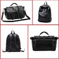 2 Colours Unique Design Fashion Casual OL Office Bag All-match Big Women's Casual Rivets Handbag Fashion Punk Skull Bags  H092