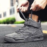 Высокие демпфирующие кроссовки мужская повседневная обувь на шнуровке мужские ботинки с массивным каблуком для мужчин Модная Удобная Вулк...