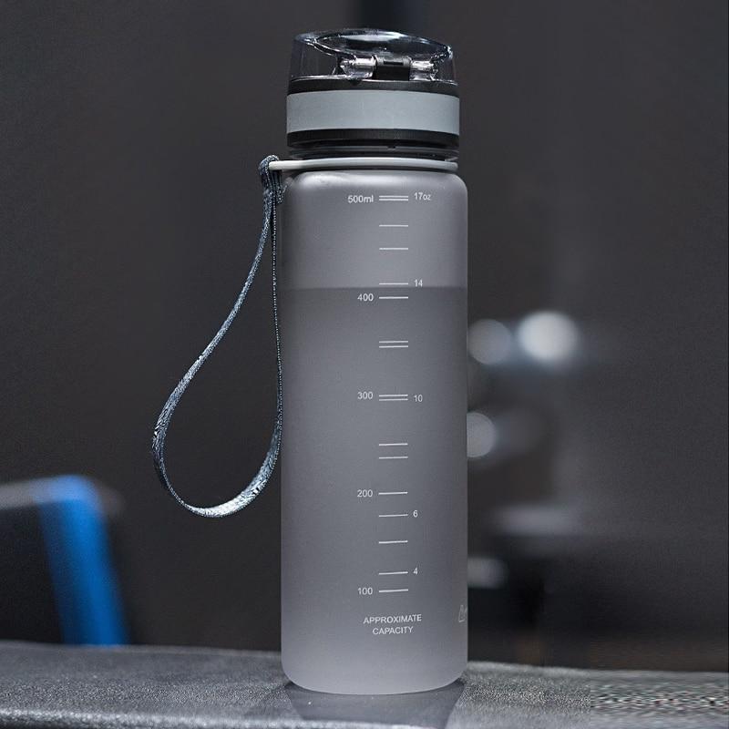 Hot Sports Water Bottle 500ML 1000ML Protein Shaker Outdoor Travel Portable Leakproof Drinkware Plastic My Drink Bottle BPA Free 4