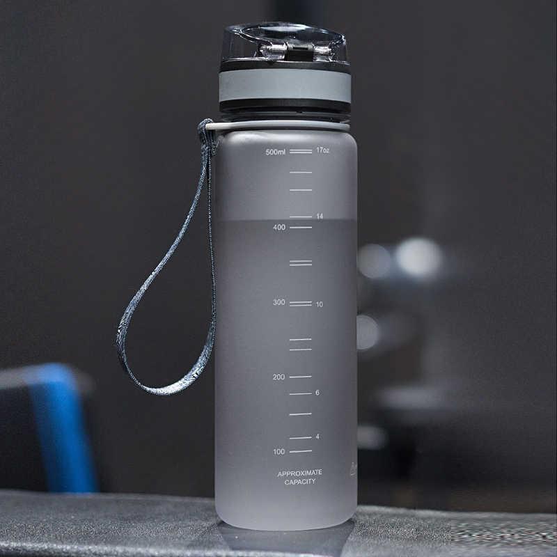 2019 new echt protein uzspace tragbare motion mein tritan wasserflasche bpa freie plastikbecher für sport camping 350/500/650/1000 ml