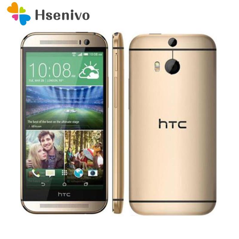 Original HTC One M8 débloqué GSM/WCDMA/LTE Quad-core RAM 2 GB téléphone portable HTC M8 5.0 pouces 3 caméras téléphone Mobile Version EU/US