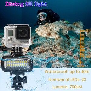 Image 2 - Orsda Luz LED de buceo para exteriores, lámpara impermeable de alta potencia para GoPro XiaoYi SJCAM, cámaras de acción deportivas, flash, luces gopro