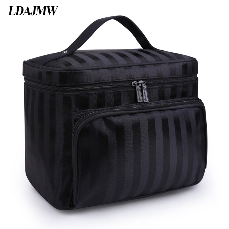 Image 4 - LDAJMW New Arrivals Foldable Cosmetic Bag Makeup Tool Storage Bag Travel Organizer Large Capacity Toiletry Bag-in Storage Bags from Home & Garden