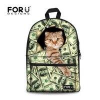 FORUDESIGNS New Design School Bag 3D Printing Backpacks China Fashion Style Backpack Backpacks With Custom Logo