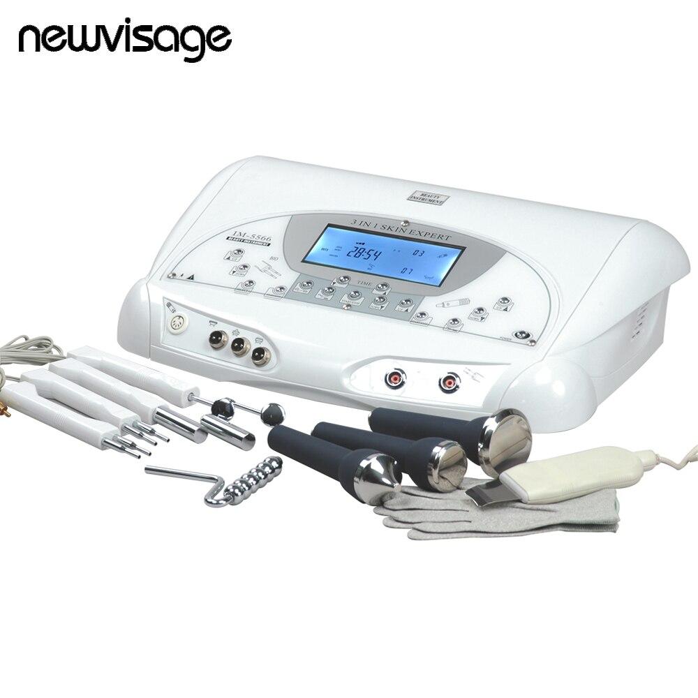Perito da pele IM-5566 Ultrasonic Rosto Massagem Corporal Microcorrente BIO Levantamento Da Pele Remover Rugas Luvas Mágicas Máquina de Esfregar A Pele