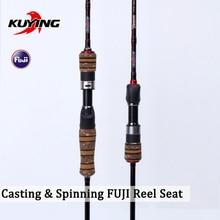 KUYING Teton L 1.98m Casting Spinning Lure Fishing Rod Soft Pole Cane Light 2 Section Soft 46Ton Carbon Fiber Medium Fast Action