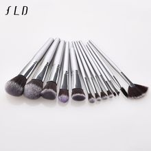 FLD High Quality 13pcs Makeup Brush Set Face Powder Fan Brushes Set Concealer Eye Shadow Make up Brushes Set Eyeliner Brush