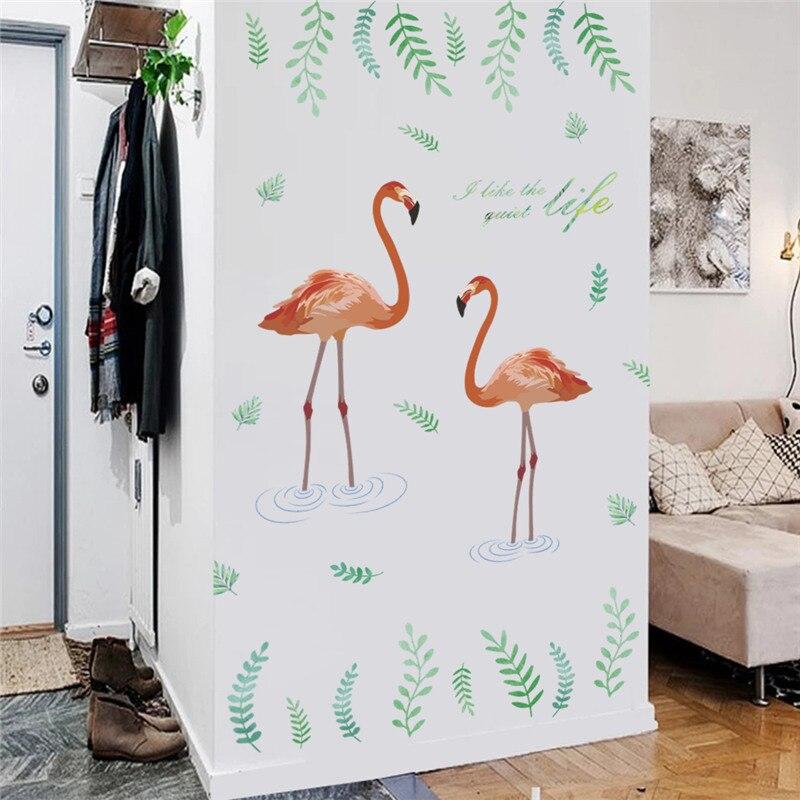 っFlamingo Uccello Wall Stickers per Soggiorno camera Da Letto ...