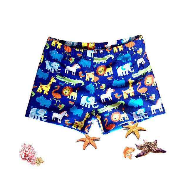 Estampado Animal bebé niños natación pantalones de vacaciones en la playa de troncos cortos fútbol nuevos niños de dibujos animados Spiderman traje de