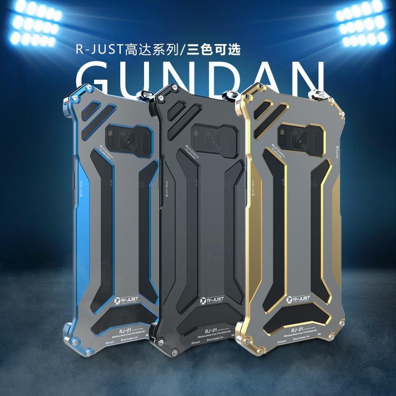 Цена за R-just спс samsung galaxy s8 case роскошный пространство металлического алюминия сильный броня случаи для samsung galaxy s8 плюс телефон case крышка