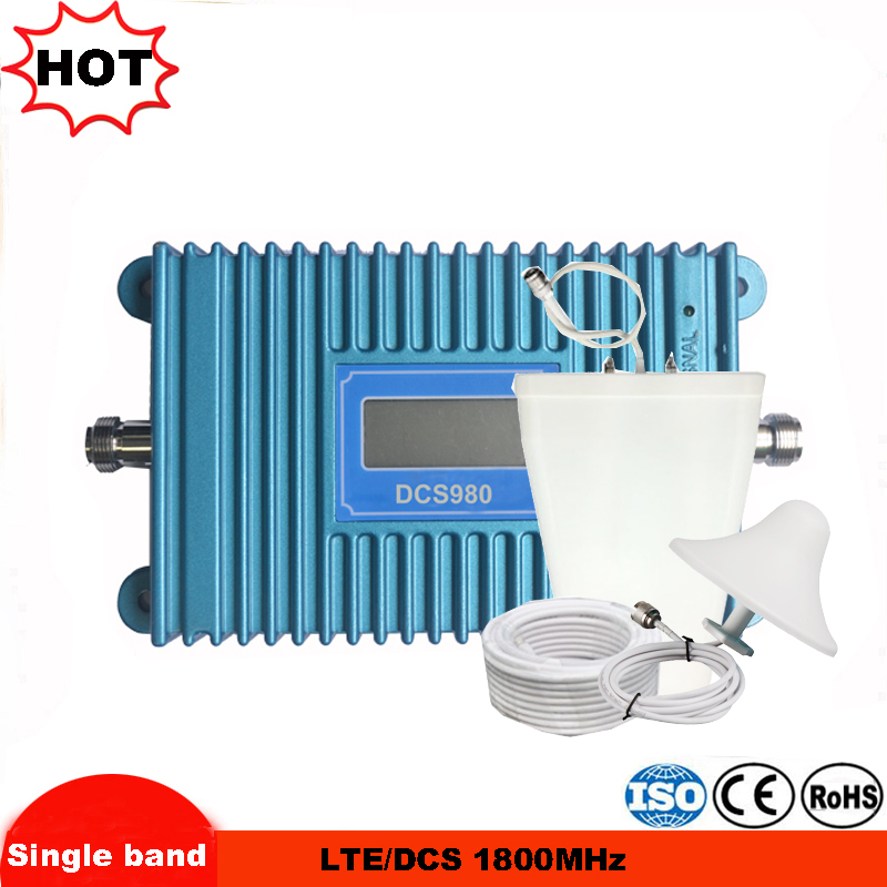 Complete Set GSM Repeater 1800 4G FDD LTE 1800 Cellular Repeater Mobile Signal Booster LCD Display 1800mhz Amplifier