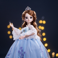 Princess anna 1/3 60CM BJD SD Dolls New Arrival With Dress Wigs Shose Hat Makeup Beautiful Dream Girls Toys