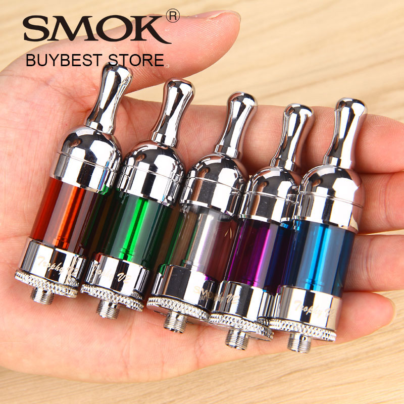 Clearance SMOK Trophy Tank 5ml Huge Capacity Bottom Coil Pyrex Glass Tank Atomizer High Quality 1.8ohm Coils 100% Original