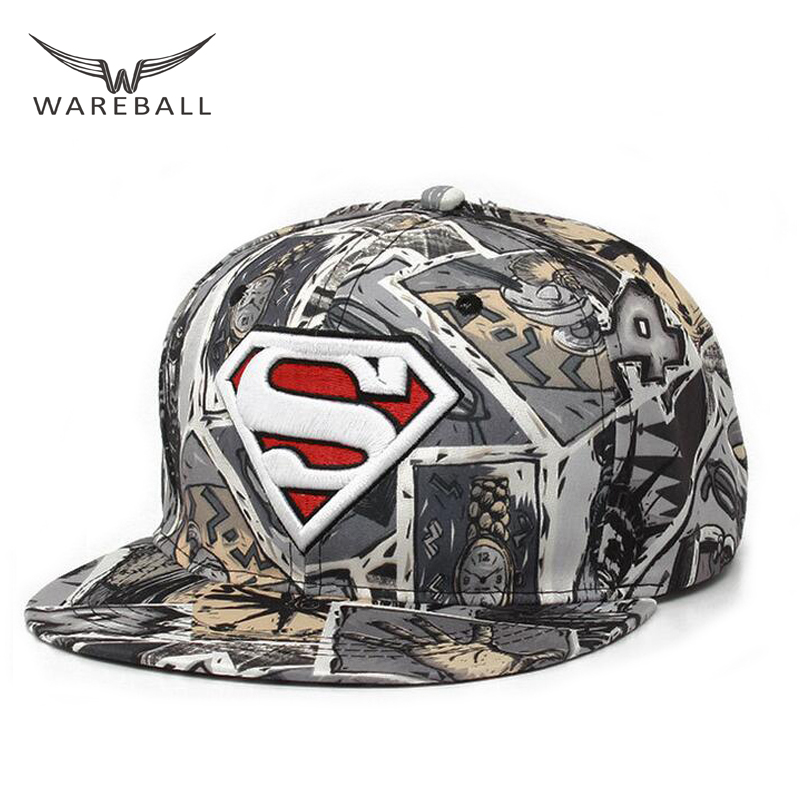 WAREBALL Hip Hop caps Snapback Hats autumn -summer Superman Bone Adjustable Men baseball Caps Hip Hop hats for Women Brand New 2017 new fashion women men knitting beanie hip hop autumn winter warm caps unisex 9 colors hats for women feminino skullies