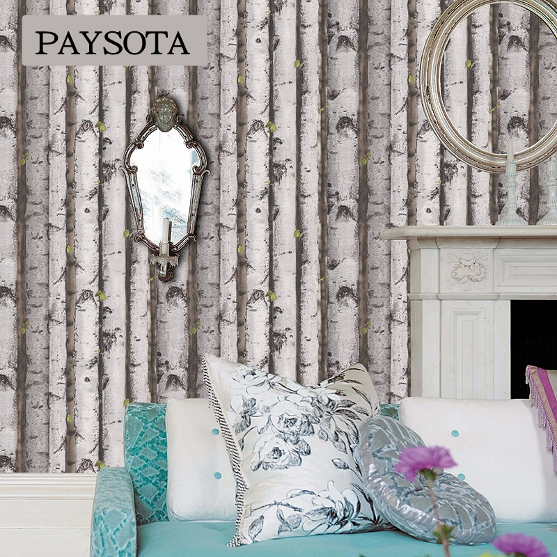2017 papel pintado photo wallpaper paysota forest tree for Tree wallpaper living room