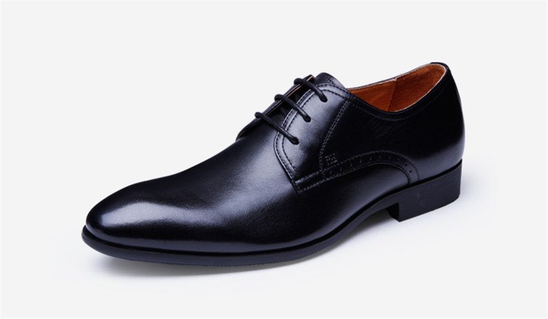 ФОТО ICONFEEL BRAND Dress Shoes For Men Spring 2017 Genunie Leather Lace Up Derbys Comfortable Taste Gentleman Shoes Plus Size