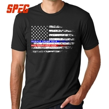 Funky T-Shirt Donald Trump Make America Great Again Flag Tee Shirt Men Cotton Short Sleeve T Shirt for Male Round Neck Plus Size round neck plus size flutter sleeve t shirt