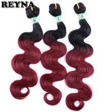 "Reyna High Temperature Fiber Body Wave bundle Synthetic Hair 16""-20"" inchs Total Weight 70 gram/piece Hair Extensions For Women(China)"