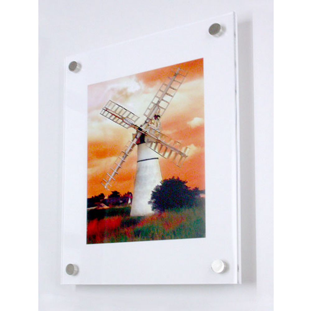 free shipping wholesale a4 wall mounted acrylic poster frames a5 acrylic floating plexiglass photo wall frames in frame from home garden on - Wholesale Poster Frames