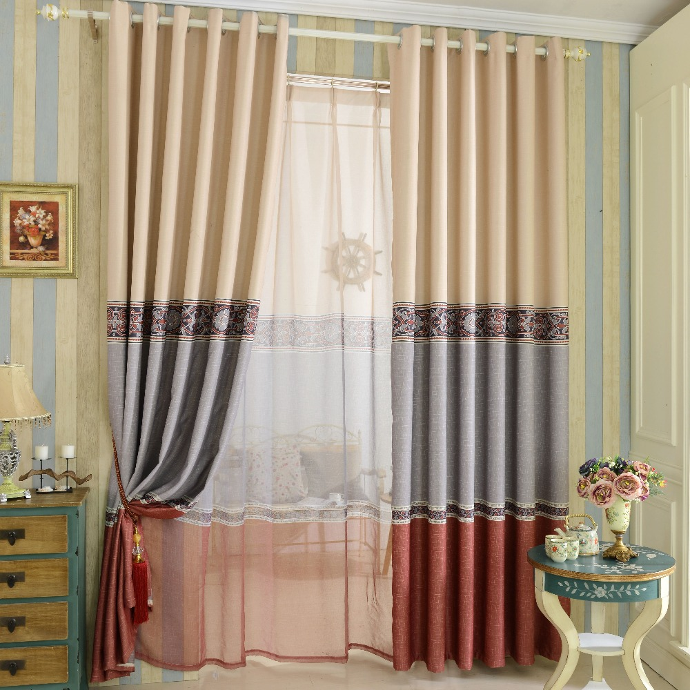 Free shipping simple design printed blackout curtain home for Household design curtain road