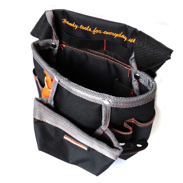 8 Pockets Oxford Tool Pouch Electrician Tools Bag Electricista Belt Waist Pocket