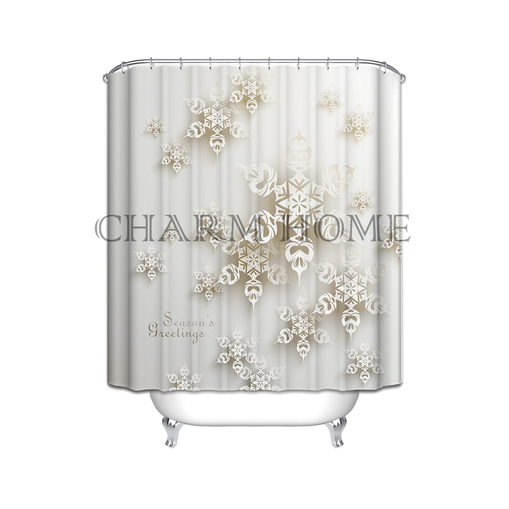charmhome new 3d flowers printed waterproof bathroom products shower curtains mildew thicken bathing covers shower curtain