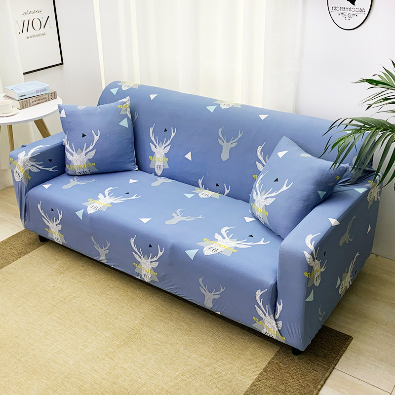 1pc Leaf and Flower Printed Sofa Cover Made of Polyester and Spandex Fabric for L Shaped and Corner Sofa 5