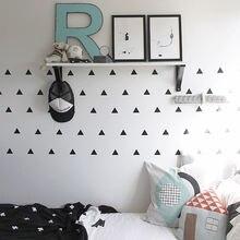 Настенный декор с треугольниками для детской комнаты наклейки