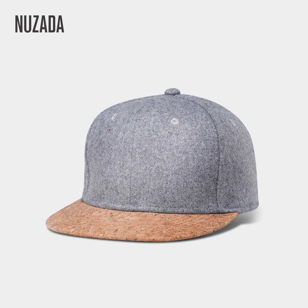 Merken NUZADA Herfst Kurk Mode Eenvoudig Heren Dames Hoed Hoeden Baseballcap Snapback Eenvoudig Klassiek Caps Winter