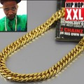 High quality 100% 24K Gold plated 90cm Long Cuban Link Chain Hiphop Statement necklace Young Jeez Jay-Z men jewelry bijouterie