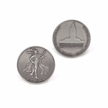 Factory custom enamel antique silver metal coins soft navy hard challenge
