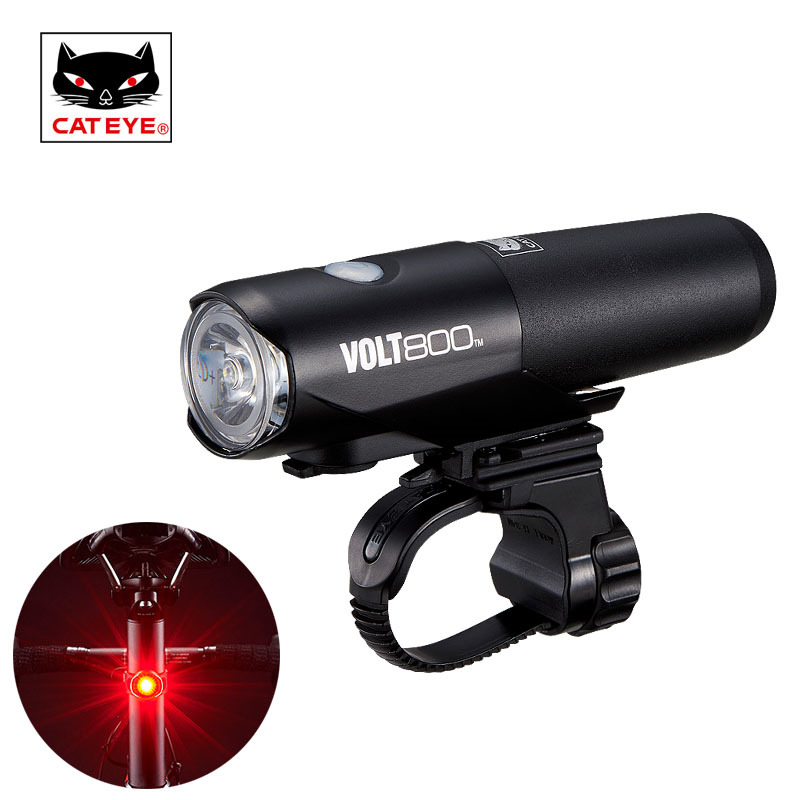 CATEYE Professional Cycling Light Waterproof Bicycle Front Handlebar Light USB Rechargeable Super Bright Light Volt400 Volt800