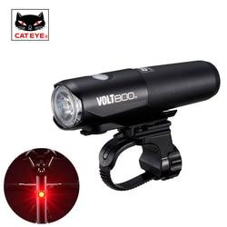 CATEYE Bersepeda Profesional Lampu Tahan Air Sepeda Depan Stang Lampu USB Rechargeable Cahaya Super Terang Volt400 Volt800