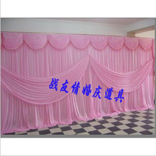 3m*6m Wedding backdrop curtain  ice silk fabric wedding/party decoration