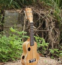 Soprano Ukulele 23 Inch Hawaiian Guitar 4 Strings 2 Double Hall Ukelele Guitarra Handcraft Zebra Wood Musical Instruments Uke