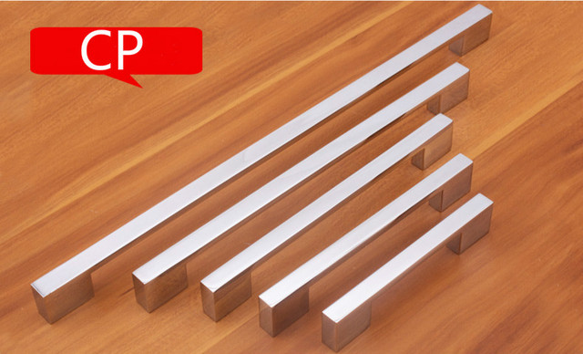 Chrome Plated Modern Handle (C.C.:224MM L:248MM H:23MM) Drawers Cabinets