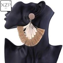 XZP 2019 Tassel Earrings Bohemian Big Long Women Handmade Vintage Statement Luxury Fashion Earring Jewelry For Ethnic