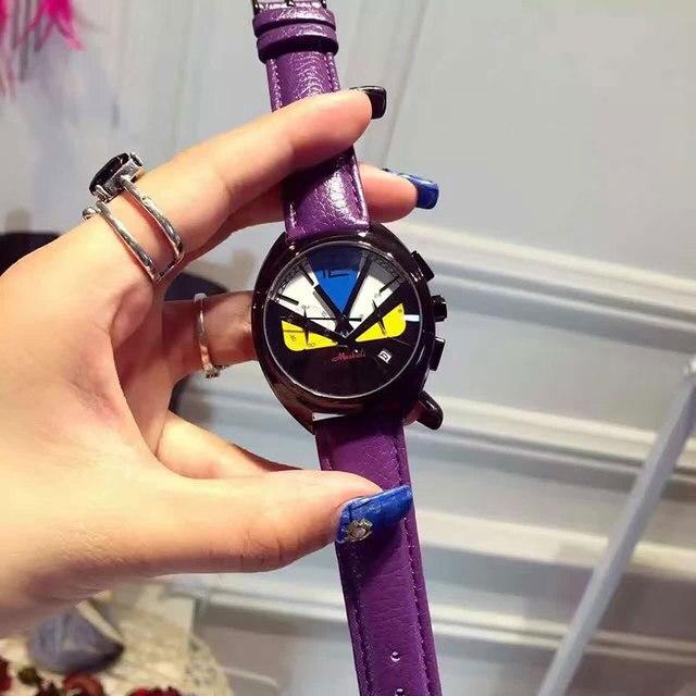 Горячая Продажа Женская Мода часы леди Маленький Монстр повседневная смотреть высокое качество часы для женщин reloj mujer montre femme