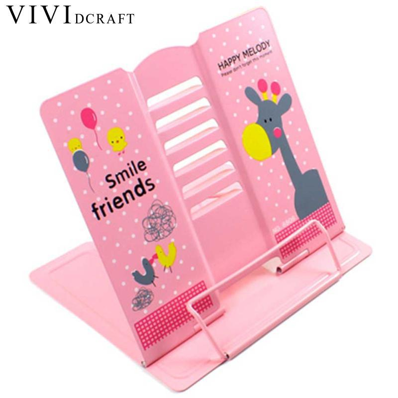 Vividcraft Reading Metal Students Book Holder School Supplies Bookends Creative Book Stand Shelf For Kid Gift Bookshelf For Desk reading literacy for adolescents