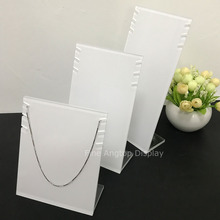 White Acrylic Necklace Jewelry Display Stand Pack of 3
