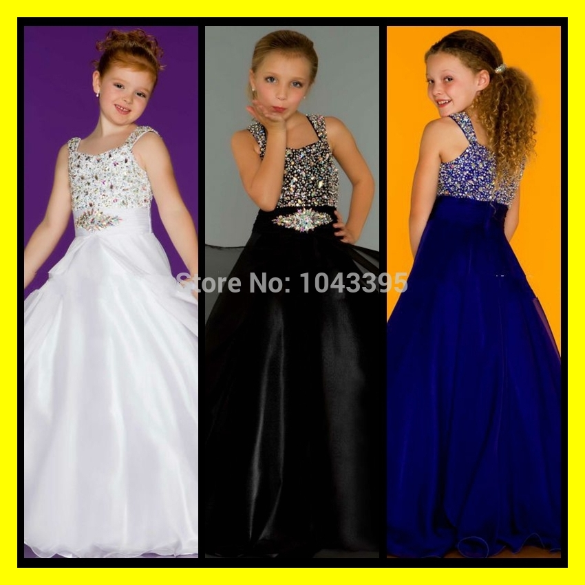 Flower Girl Dresses Macys Scalloped Spaghetti Straps Sleeveless ...