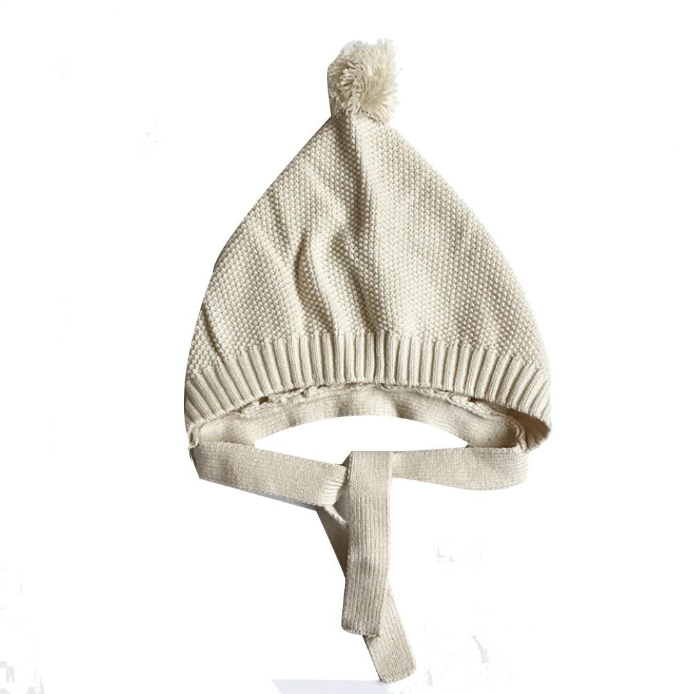 Fashion Baby Hat Baby Beanie Baby Toddler Kids Boy Girl Cap Knitted Crochet Beanie Winter Warm Solid Cotton Hat Cap Kids